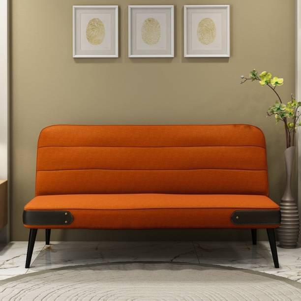 Durian Eddie Orange Single Solid Wood Sofa Bed