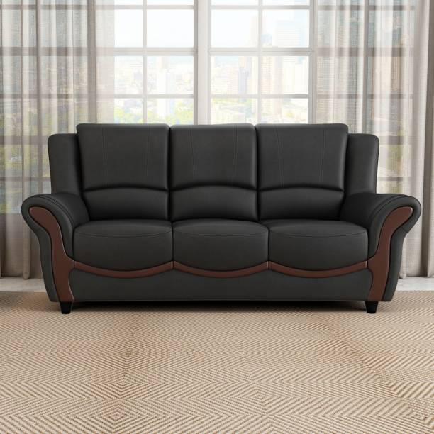 Durian BLOS/37930/B/3 Leatherette 3 Seater  Sofa