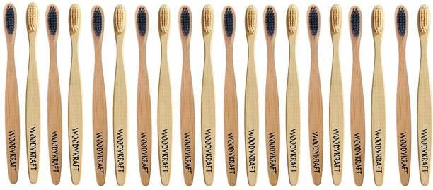 WOODYKRAFT Biodegradable Ecofriendly Organic Bamboo Tooth Brush with Soft bristles PACK OF 20 Soft Toothbrush