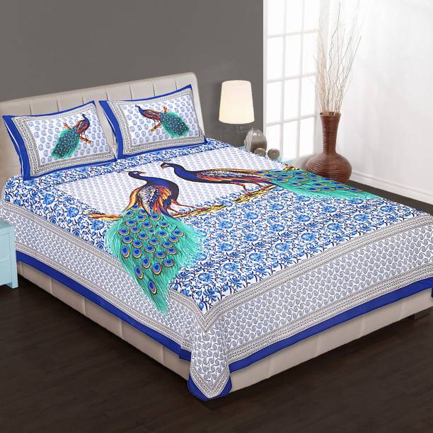 Dangal 144 TC Cotton Double Printed Bedsheet