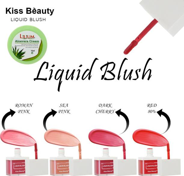 Kiss Beauty Liquid Blush for Professional Makeup Shade-05 Lilium Aloevera Cream