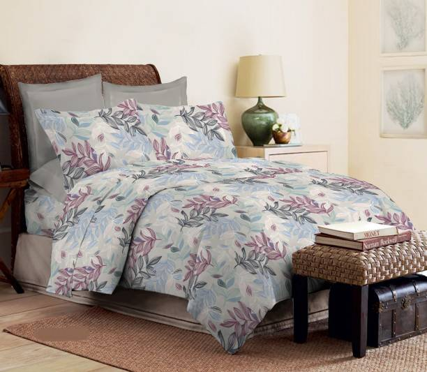 Bombay Dyeing 180 TC Cotton Double King Floral Bedsheet