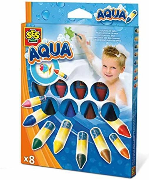 Aqua Coloring In The Bath Crayons Arts & Crafts