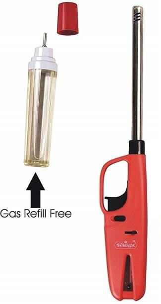 OSIOUS Gas Lighter Plastic, Steel Gas Lighter (Multicolor, Pack of 1) Plastic, Steel Gas Lighter