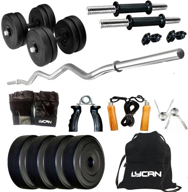 Lycan 8 kg 8kg Home Gym WIth 3feet Zigzag Rod & Accessories Home Gym Combo