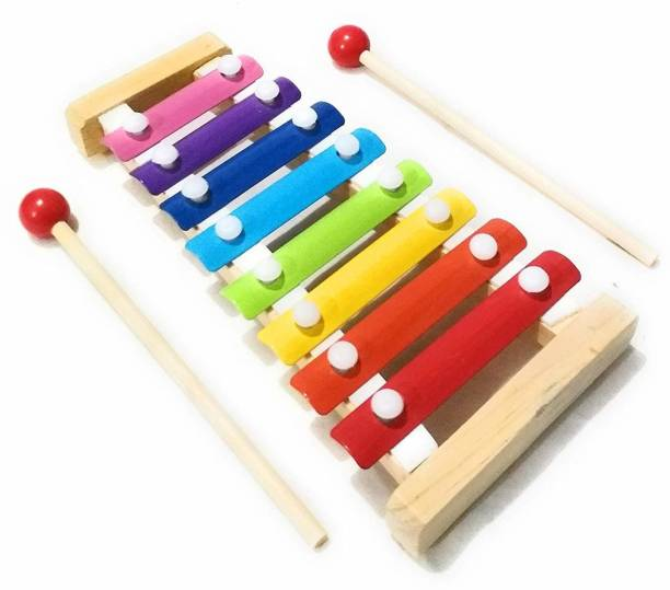 voolex Wooden Xylophone Musical Toy for Children with 8 Note (Big Size) - Pack of 1