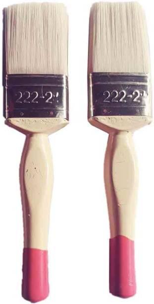 StwoN Painting Brush Set 50MM Synthetic Hair Flat Brush Set Of 2