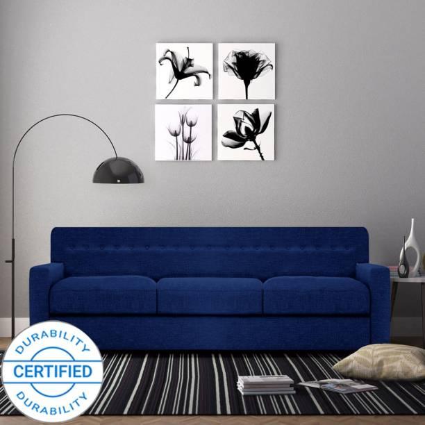 Adorn Homez Solitaire Fabric 3 Seater  Sofa