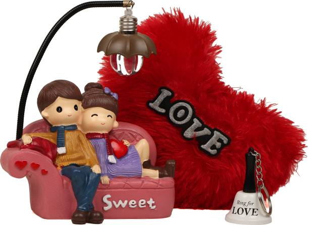 TIED RIBBONS Showpiece, Soft Toy, Keychain Gift Set