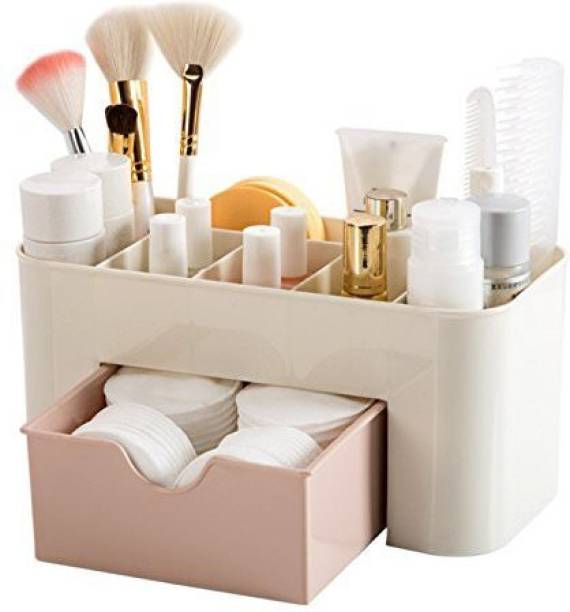 kasodariya enterprise Cosmetic & Make up Storage Box with Drawer Desktop Storage, organizer Vanity Box