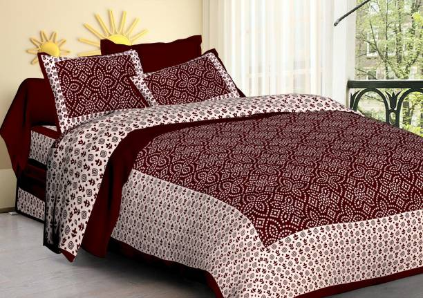 Dangal 144 TC Cotton Double Printed Bedsheet