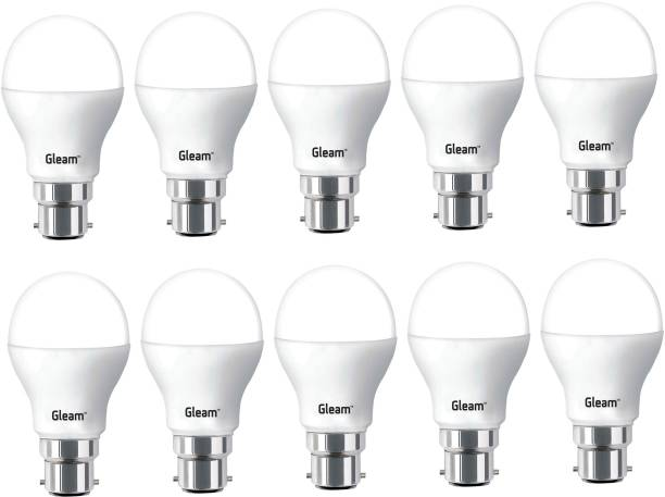 Gleam 9 W, 9 W Round B22 LED Bulb