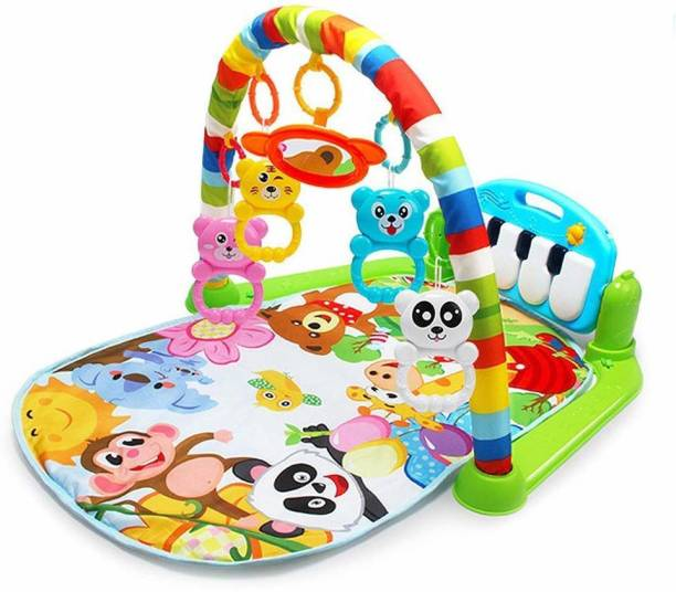 SYGA Baby Play Gym Kick and Play Piano Mat Newborn Toy for Boy and Girl 0-18 Month Lights and Music Activity Toys