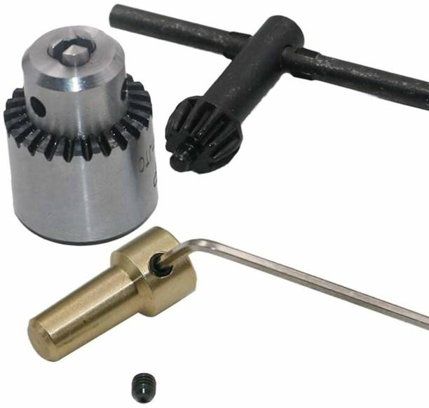 amiciTools Motor Drill Chucks Clamping for 0.3-4 mm Bits, Taper Mounted Drill Chuck 3.13mm Brass Drill Chucks 0.3-4 mm