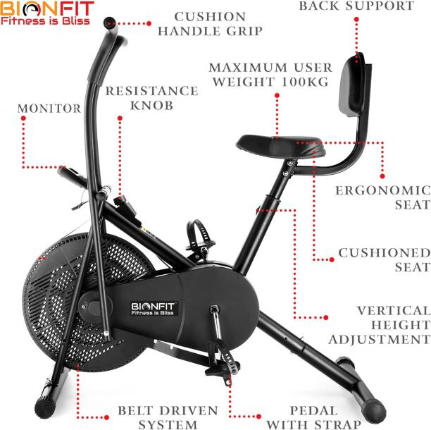 BIONFIT | Air Bike Fitness Exercise Cycle For Home| Moving Handles Exercise bike Upright Stationary Exercise Bike