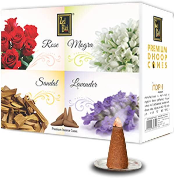 Zed Black Premium Dhoop Cones - 12 Boxes Inside – Long Lasting Enthralling Dhoop Cones for Regular Use - Encouraging And Cheering Dhoop Incense Cones