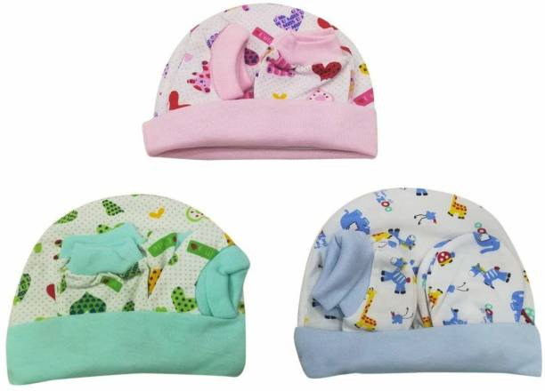 Baby Shopiieee Supersoft cotton Booty, Mitten and Cap combo for new born baby boy and baby girl (Multicolor) GAP-10