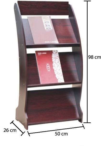 Urbancart 3 Tier Floor Standing Magazine, Brochure, Catalog, Literature Display Rack Holder Organizer Elegant Design Wooden Rack for Home, Trade Show, Office, Retail Store And Hotel(ASSEMBLY REQUIRED) Floor Standing Magazine Holder