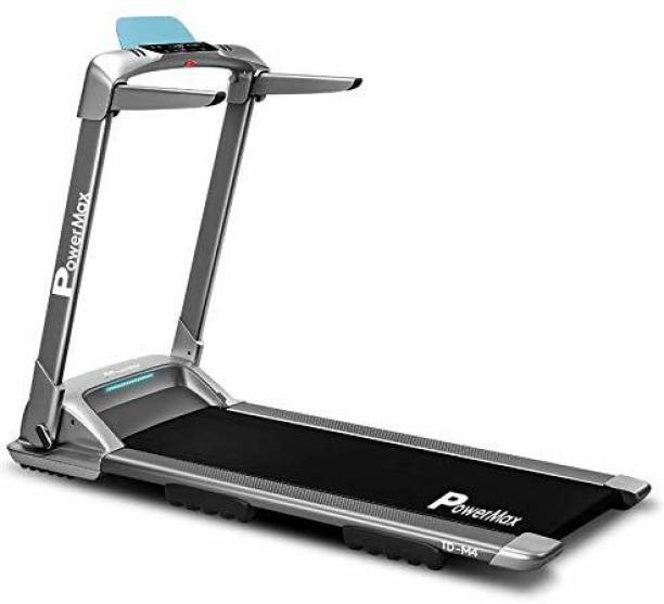 Powermax Fitness UrbanTrek TD-M4 - (2.0HP) 100% Pre-Installed, Flat Surface, Motorized Compact Treadmill with Android & iOS App Treadmill