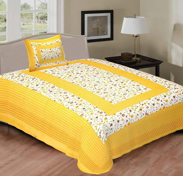 VRG 144 TC Cotton Single Jaipuri Prints Bedsheet