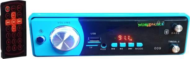 world voice blue colour full DJ HIGH WOOFFER CAR STEREO FM/ MP3/ USB/ AUX/ BT (4440 IC) Car Stereo