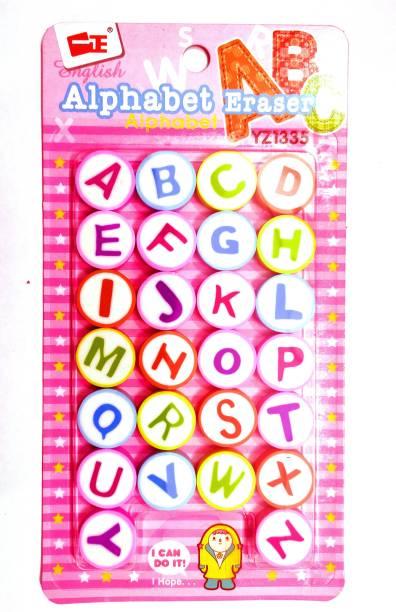 poksi alphabets erasers cute erasers for kids best birthday gifts(26 erasers) Non-Toxic Eraser