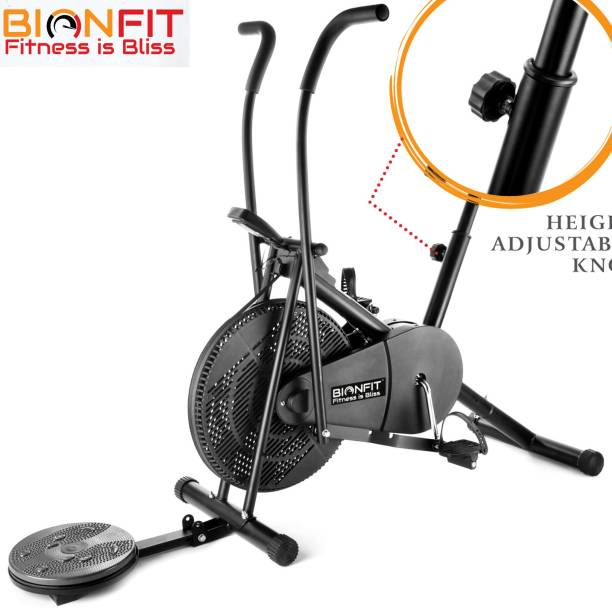 BIONFIT | Air Bike Fitness Exercise Cycle For Home|Dual Action bike with Twister Dual-Action Stationary Exercise Bike