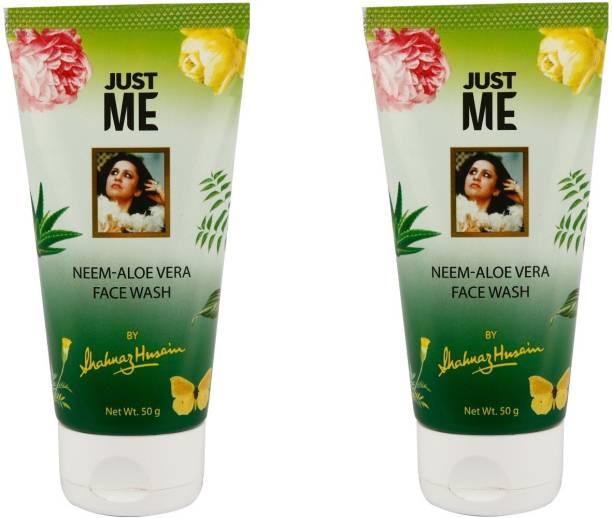 Shahnaz Husain NEEM ALOE VERA FACE WASH 50G EACH (PACK OF 2) Face Wash