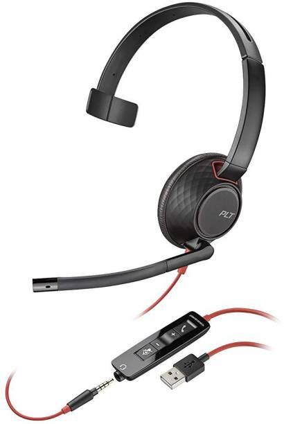 PLANTRONICS Blackwire 5210 USB-A Headset, On-Ear Mono Headset, Wired Bluetooth Headset