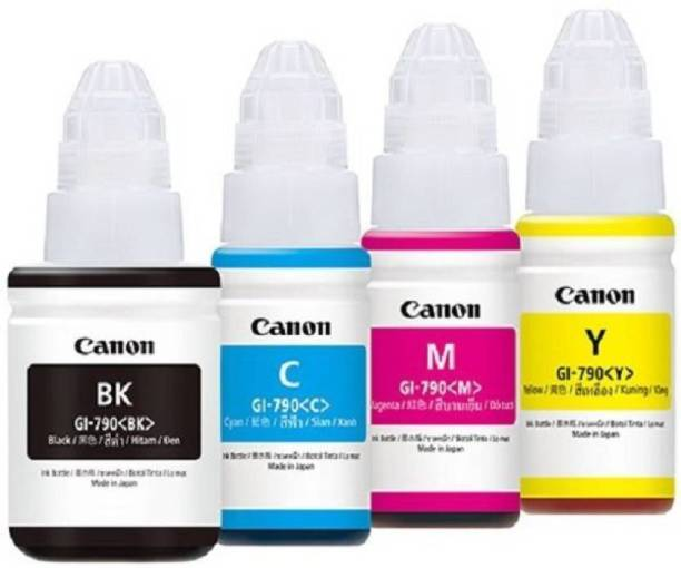 Canon G 2000,1000,3000 MULTI COLOUR INK SET Black + Tri Color Combo Pack Ink Bottle