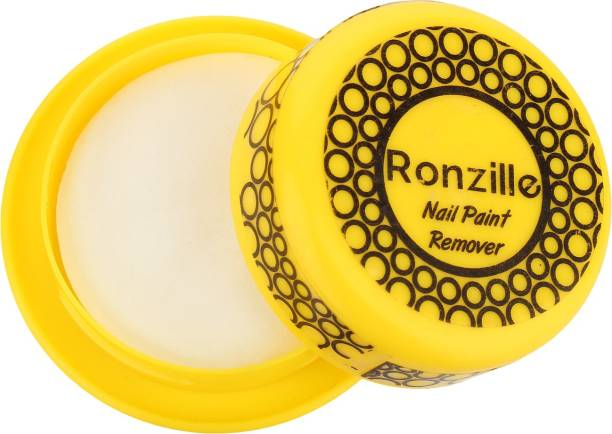 RONZILLE Nail Polish Remover Wipes Round Tissues For Women And Girls Yellow