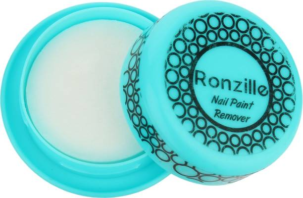 RONZILLE Nail Polish Remover Wipes Round Tissues For Women And Girls Blue