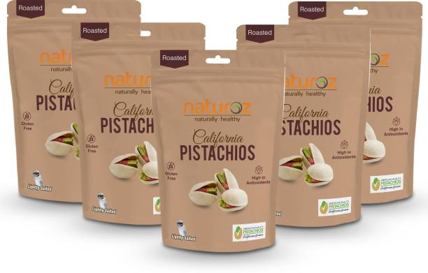Naturoz (Pack Of 5) Roasted Lightly Salted Pistachios
