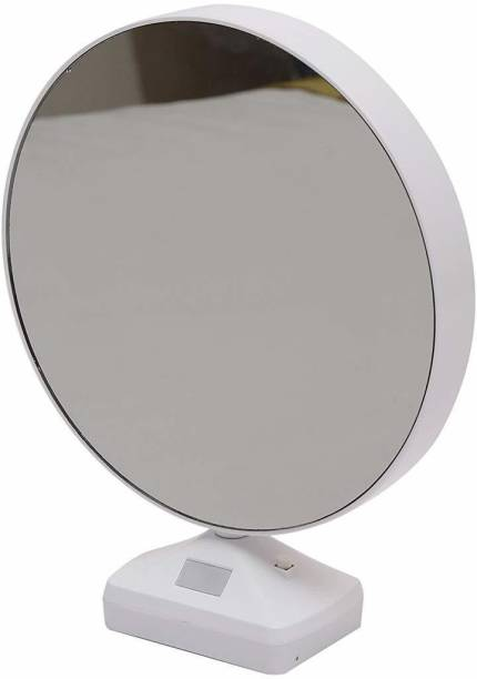 ONRR Collections Round Magic Mirror Photo Frame Gift/Showpiece with usb cable led photo frame 6 inch magic mirror, led photo frame