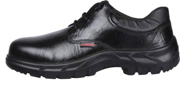 Karam FS05BL(SWSAPN) Single density PU Sole Steel Toe Leather Safety Shoe