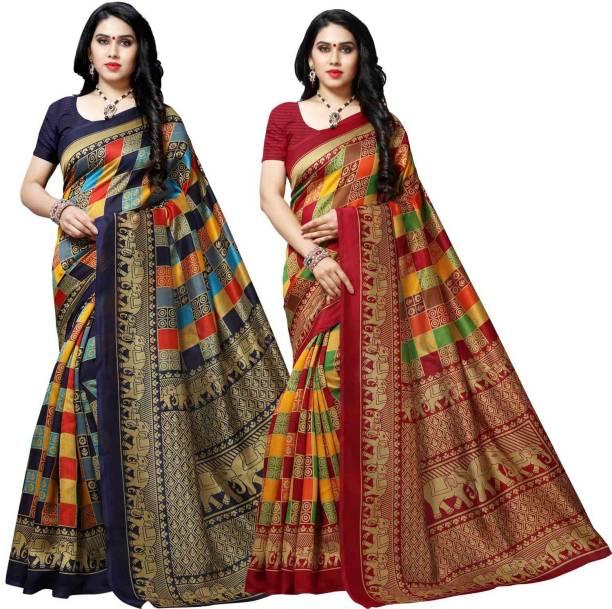Anand Printed Patola Silk Blend Saree