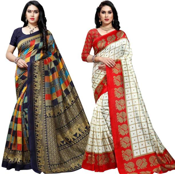Anand Checkered Patola Silk Blend Saree
