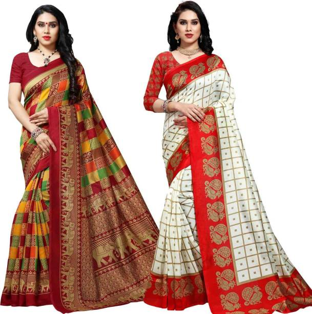 Anand Checkered Bhagalpuri Silk Blend Saree