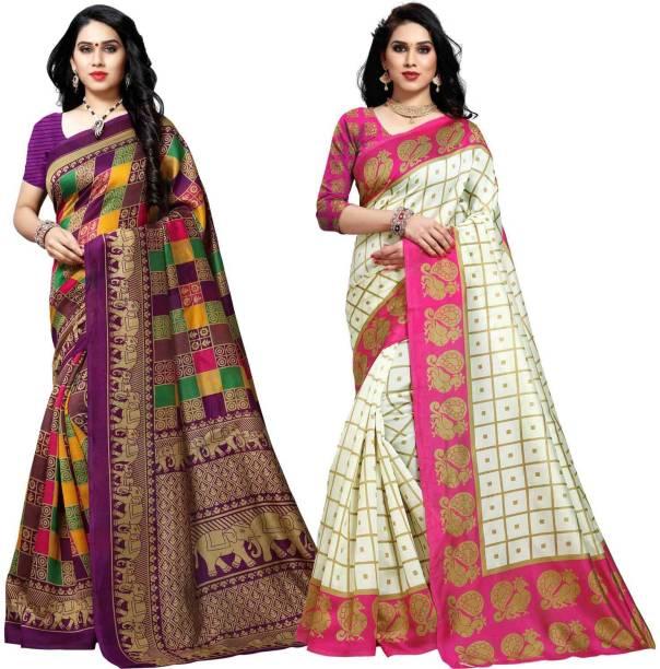 Anand Printed, Checkered Patola Silk Blend Saree