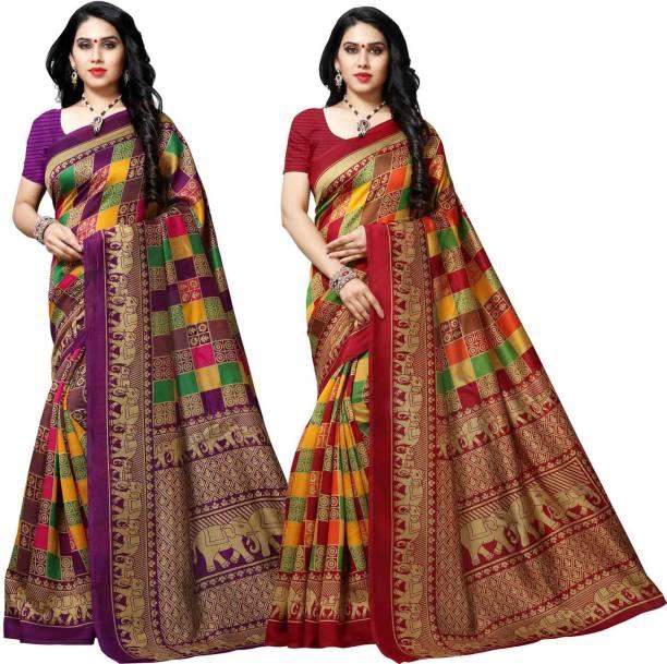 kashvi sarees Printed Mysore Silk Blend Saree