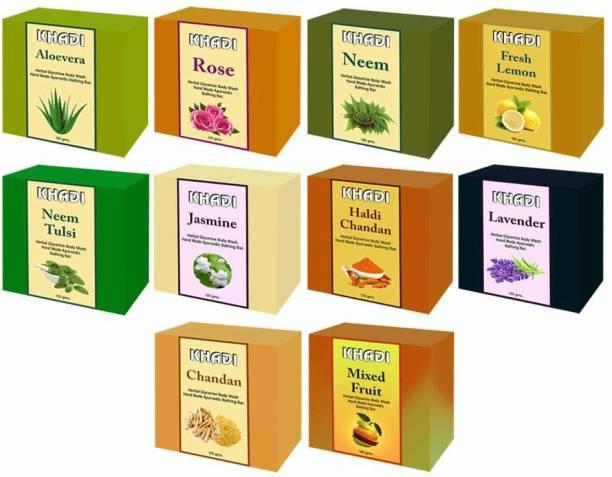 KHADI Herbal Ayurvedic Soap for glowing skin women & men 125g