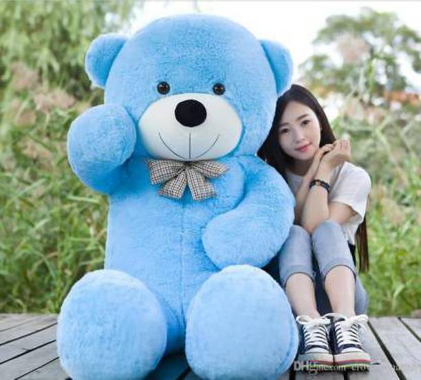 TRUELOVER Valentine gift 3 feet Blue teddy for your beloved  - 121 cm