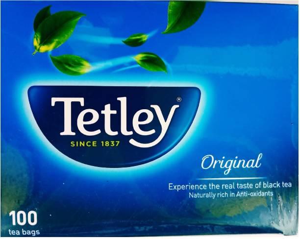 tetley ORIGINAL 100 TEA BAGS BOX Black Tea Bags Box