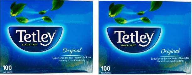tetley ORIGINAL 200 TEABAGS (2 BOXES OF 100 TEABAGS) Black Tea Bags Box