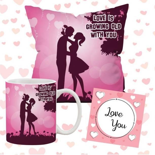 Flipkart SmartBuy Cushion, Mug, Greeting Card Gift Set