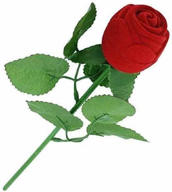 suvasane RRRV199 Rose Jewelry Vanity Box (Red) Without Ring Vanity Box