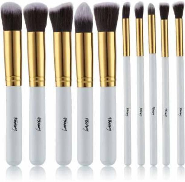 FOOLZY Pack of 10 Professional Makeup Brushes Kit