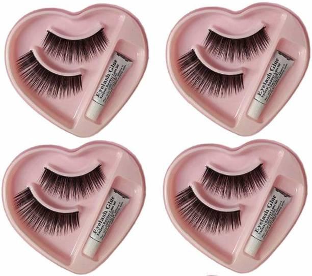 Shopeleven 002 False eyelash [pack of 4] waterproof & Reusable