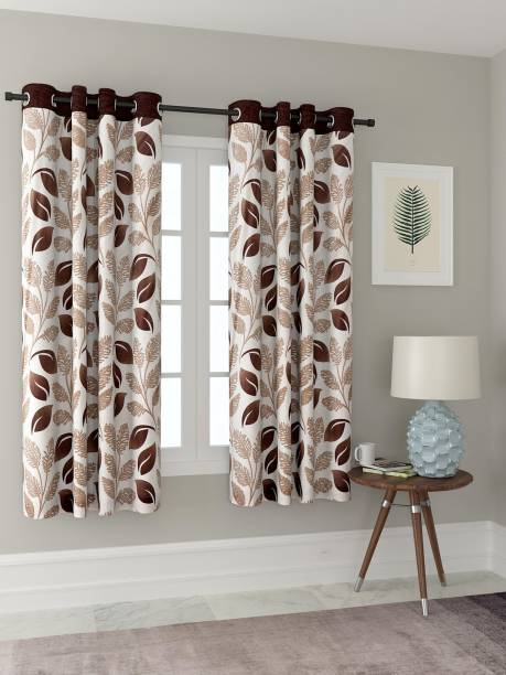 Cortina 150 cm (5 ft) Polyester Window Curtain (Pack Of 2)