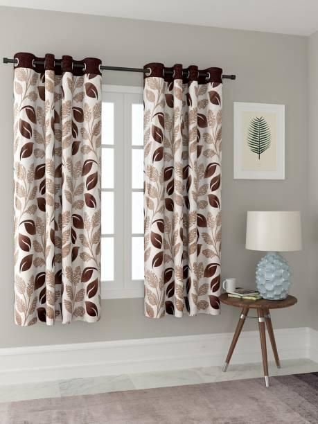 Cortina 150 cm (5 ft) Polyester Window Curtain Single Curtain
